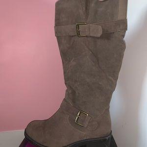 Wide Calf Knee High Boots w/Box